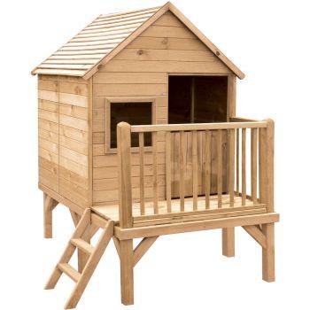 Cabane en bois traité sur pilotis pour enfant - Winny