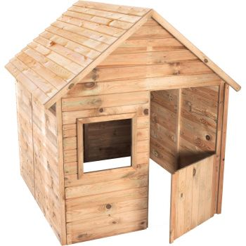 Petite cabane pré-monté en bois traité avec portillon 3 enfants - Maria