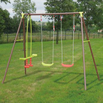3-delige stalen schommel voor kinderen – Malo