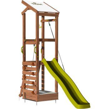 Aire de jeux avec mur d'escalade et corde à grimper - HAPPY Rope 120