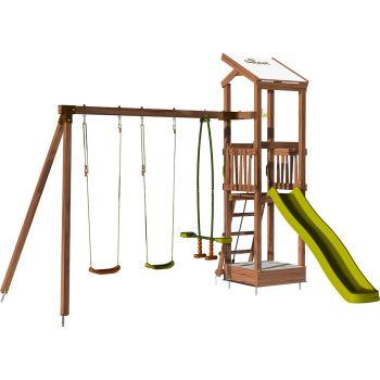 Speeltoren met schommel en zandbak - HAPPY Swing 120 zonder opties