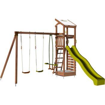 Aire de jeux pour enfant avec portique et bac à sable - HAPPY Swing 150