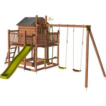 Aire de jeux pour enfant maisonnette avec portique - COTTAGE