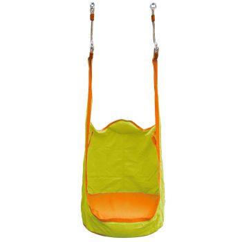 Katoenen Hangstoel voor kinderen met opblaasbaar plastic kussen B:750 mm -L:1800 mm