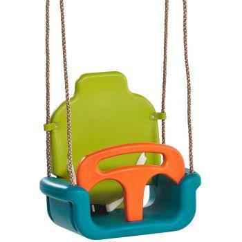 Balançoire bébé évolutive : bleu, orange et vert, 455 x 300 x 465 mm