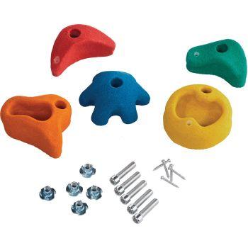 Kit van 5 veelkleurige klimgrepen voor kinderen – 3 groottes -75 - 130 mm
