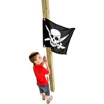 Bandera pirata con sistema de izado para torre de juegos - 550 x 450 mm
