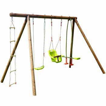 Portique en bois pour enfant 4 agrès - Suzon