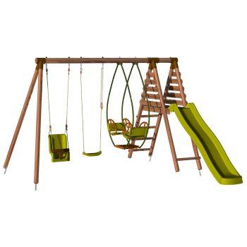 Station pour enfant avec portique et toboggan - Colza