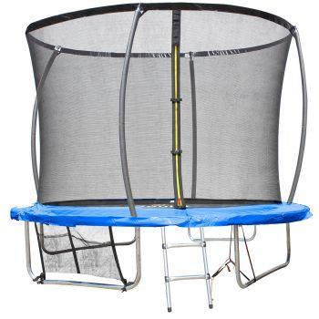 Trampoline Extérieur  Bleu diam. 3,05m ( 10FT) pour Enfants et adultes avec Filets + echelle+ renfort de protection-Soulet