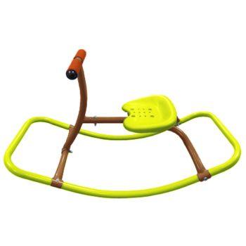 Schommelpaard in staal - Rider voor kind - L. 78,5 x B. 39 cm x H. 44 cm