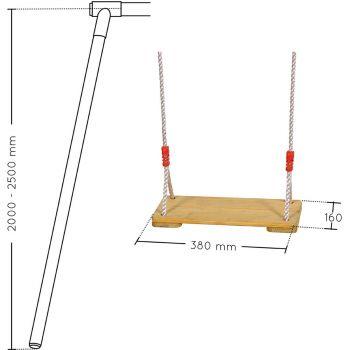 Balançoire en bois 1.95m - 2.50m