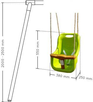 Balançoire en plastique pour bébé - Soulet