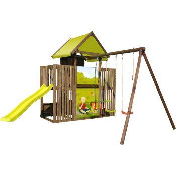 Aie de jeux avec portique et bac à sable - P'tit Chatenay