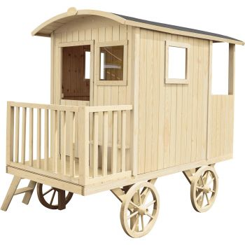 Cabane en bois mobile pour enfant - Roulotte Carry