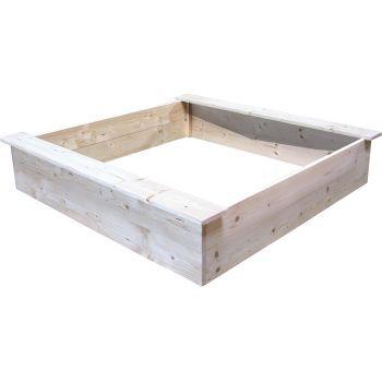 Vierkante zandbak 118 x 118 cm