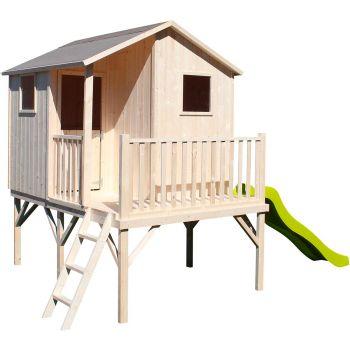 Cabane en bois pour enfant avec toboggan - Tiphaine