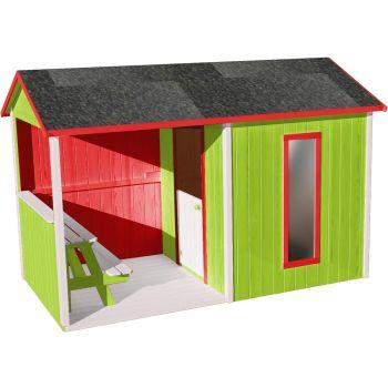 Cabaña de madera para niños con mesa - Jazz