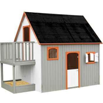 Hoge houten paalhut voor kinderen – Duplex