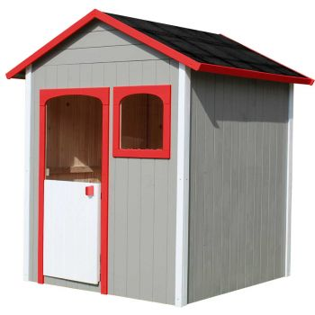 Cabane en bois pour enfant peinte et traitée - Alix