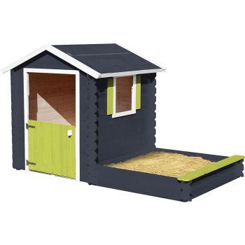 Cabaña de madera para niños con caja de arena arenero- Amande