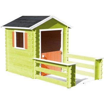 Cabaña de madera con terraza para niños - Praline