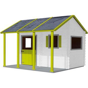 Cabaña de madera con pérgola para niños - Constance