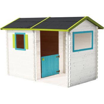 Cabaña de madera con patio cubierto para niños - Rosane