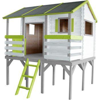 Cabaña de madera sin tratar sobre pilotes para siete niños - Manon