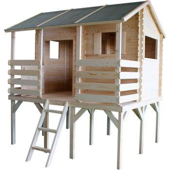 Cabane en bois non traité sur pilotis 7 enfants - Manon