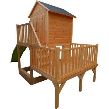 Cabane en bois multi-plateforme avec bac à sable - Jania